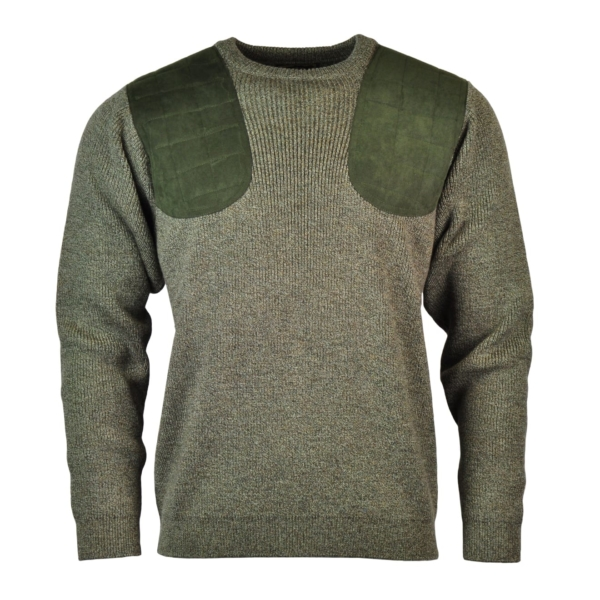 James Purdey Crew Neck Marl Shooting Sweater