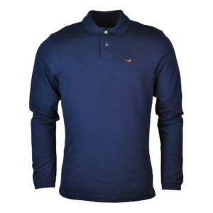 Barbour Warkworth Long Sleeve Polo Navy