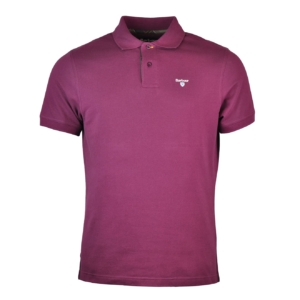 Barbour Tartan Cotton Pique Polo Merlot