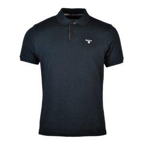 Barbour Tartan Cotton Pique Polo Black