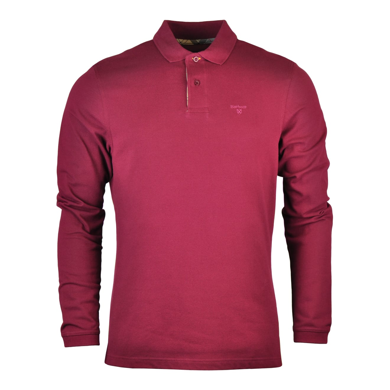 Barbour Long Sleeve Sports Polo Ruby