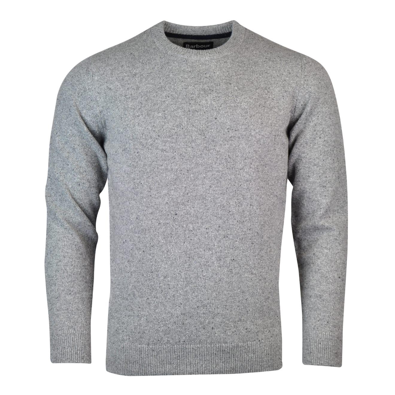 Barbour Tisbury Crew Neck Sweater Light Grey