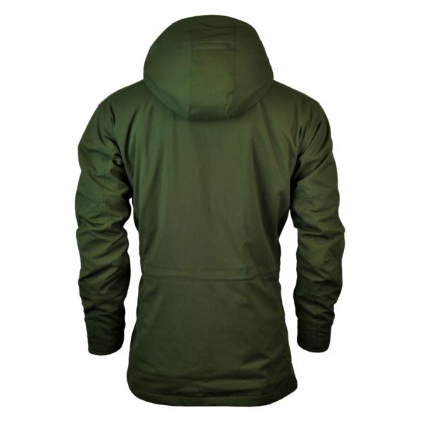 Barbour Bransdale Shooting Jacket Forest Green Back Detachable Hood