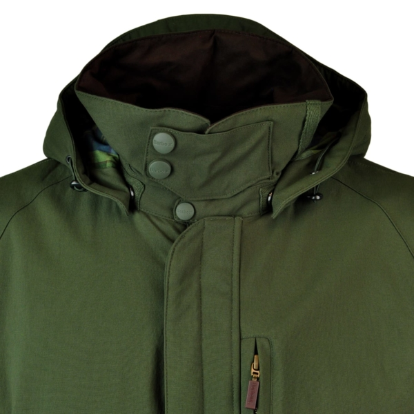 Barbour Bransdale Shooting Jacket Collar Forest Green