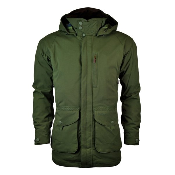 Barbour Bransdale Jacket Forest Green Front With Full Two Way Zip