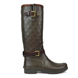 Barbour Womens Lindisfarne wellington boot olive