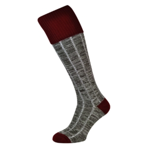 Macfarlaine contrast shooting socks port olive brown