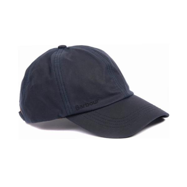 Barbour Prestbury Sports Wax Baseball Cap Navy
