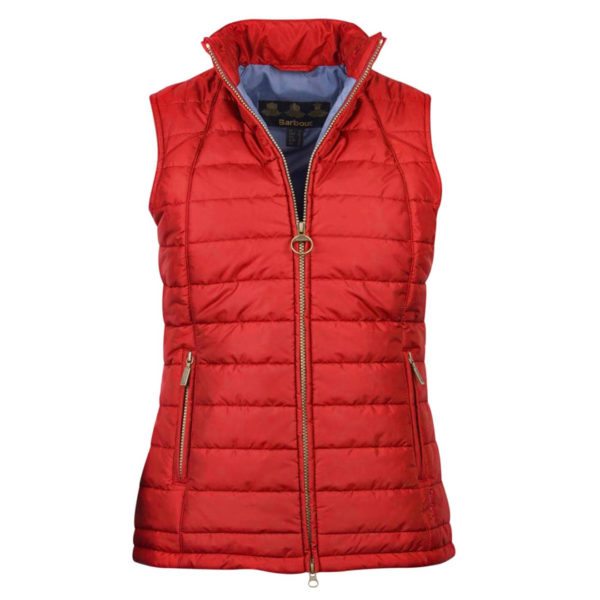 Barbour Womens Dovecote Quilt Gilet Red