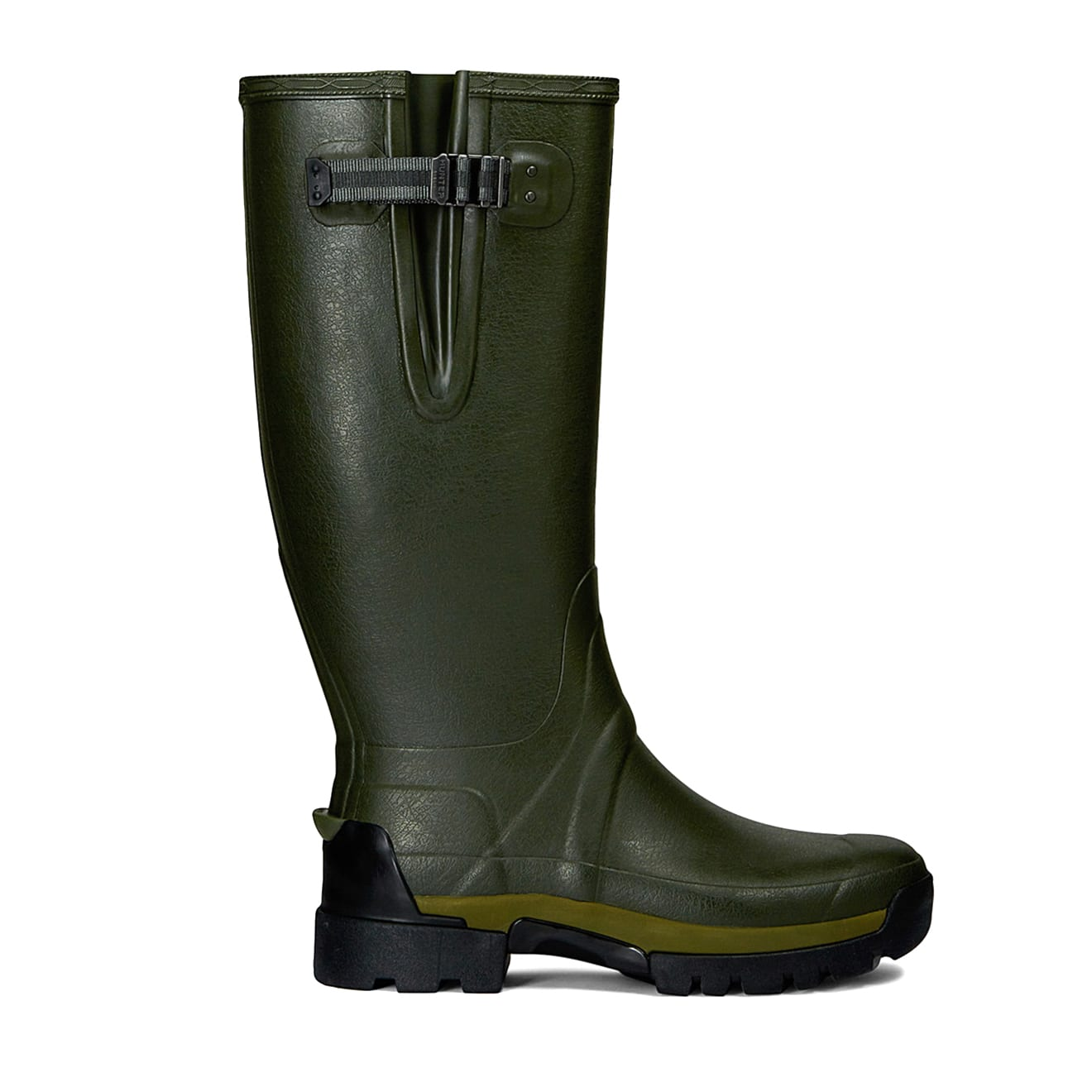 Hunter Balmoral Side Adjustable 3mm Neoprene Wellington Boots Green