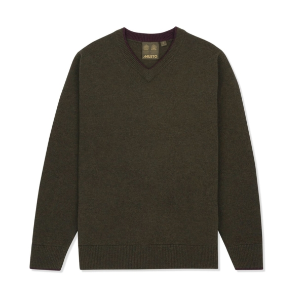 Musto Shooting V Neck Knit Rifle Green