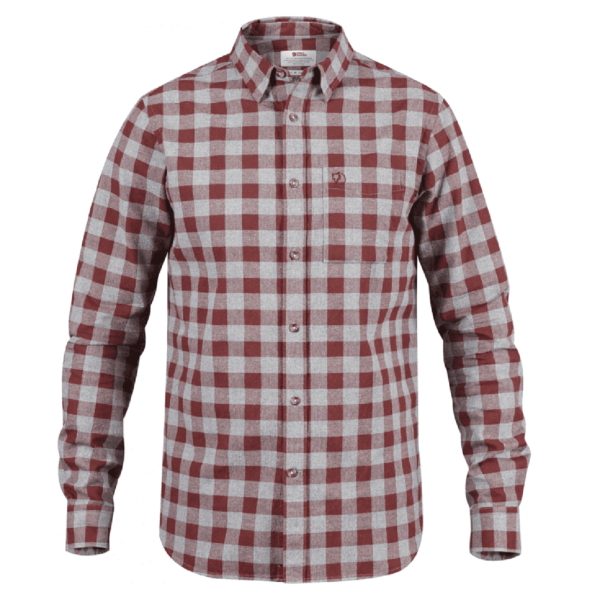 Fjallraven Ovik Check Shirt Red Oak