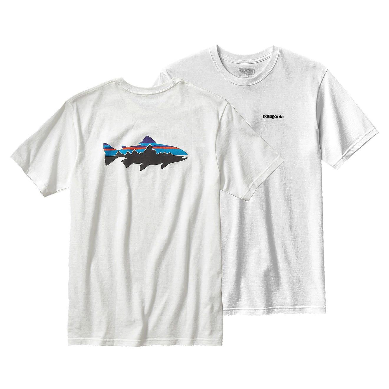 Patagonia mens fitz roy trout cotton t shirt the for Patagonia fishing shirt