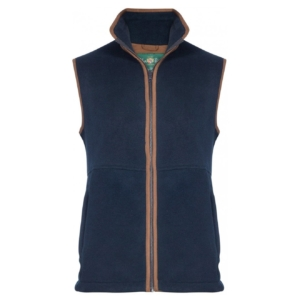 Alan Paine Aylsham fleece vest dark navy