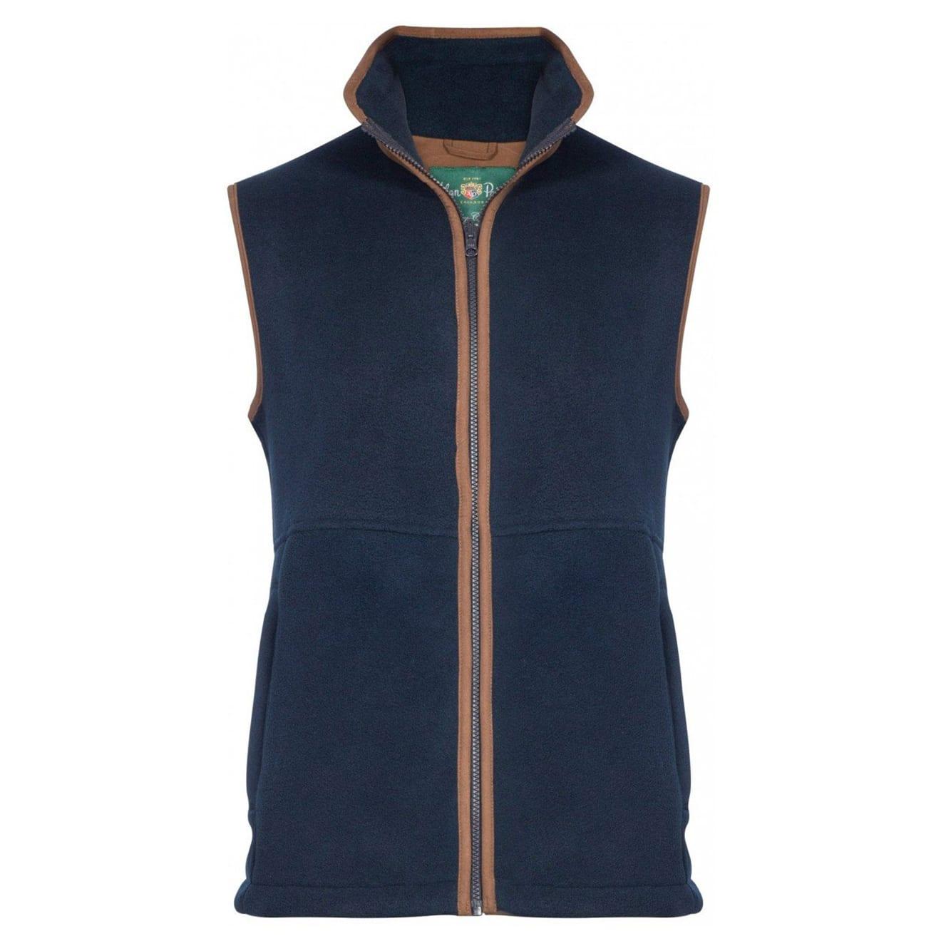 Alan Paine Aylsham fleece vest dark navy