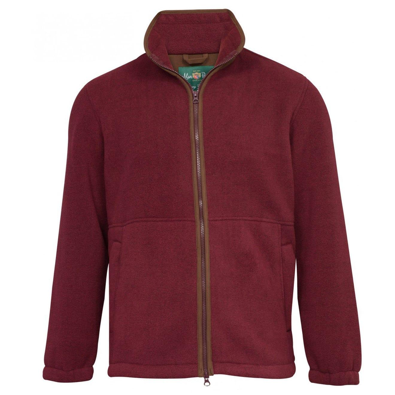Alan Paine Aylsham full zip fleece jacket bordeaux