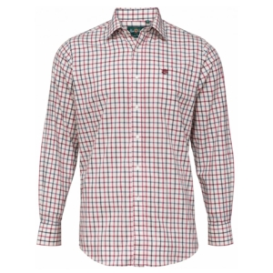 Alan Paine Ilkley check shirt red check