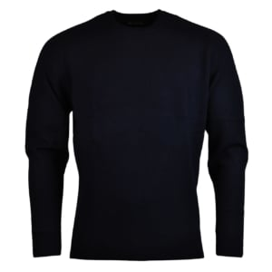 Alan Paine burford crew neck lambswool knit dark navy 2