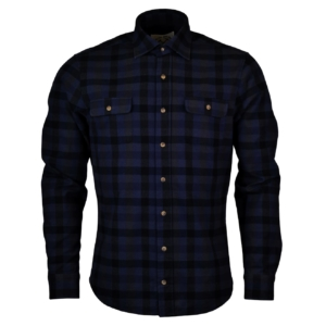 Alan Paine eskdale check over shirt navy black