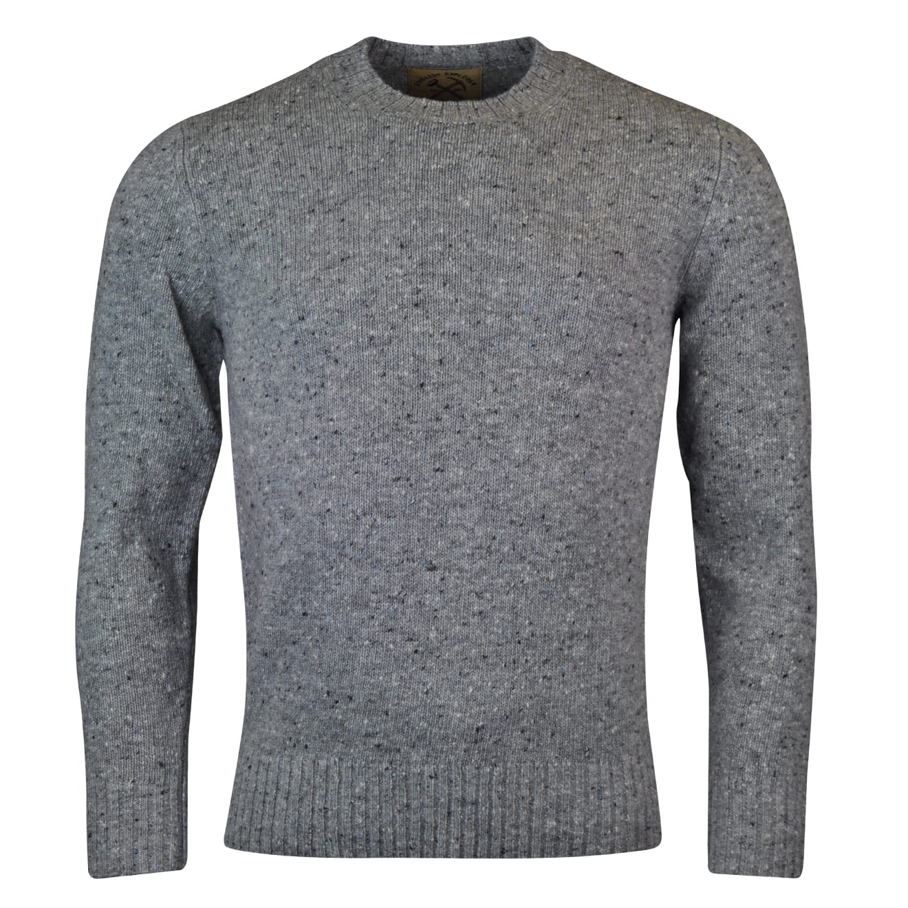 Alan Paine strone donegal crew neck knit jumper silver 2