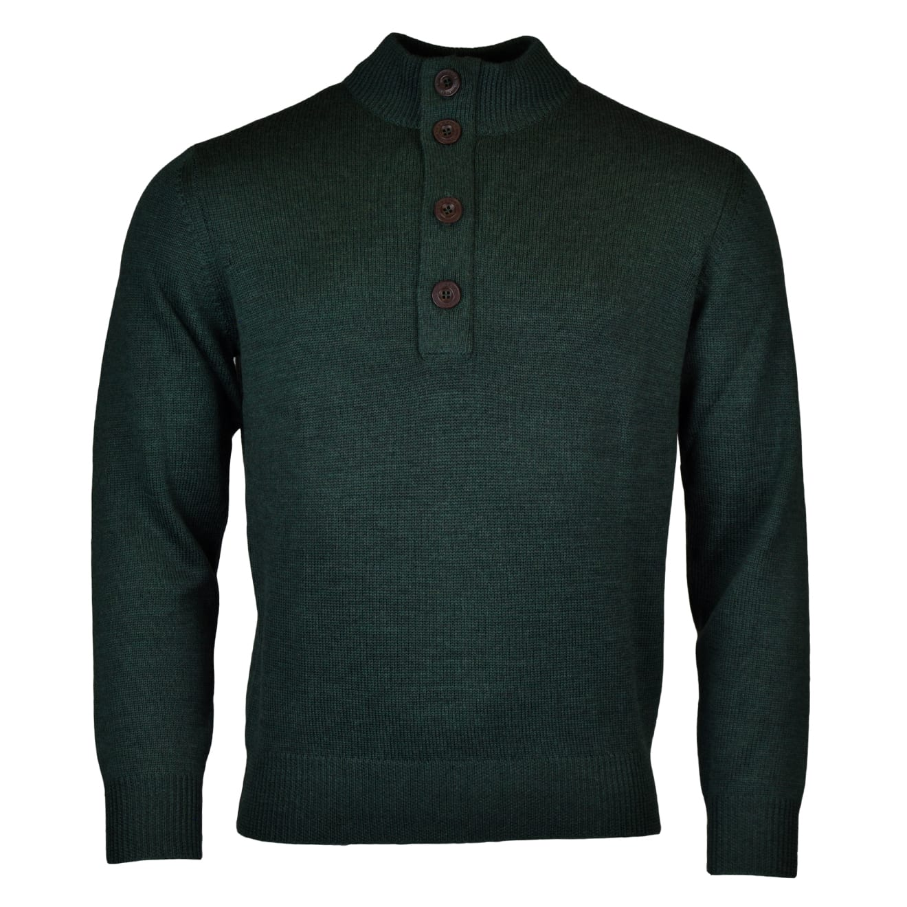 Alan Paine tain button half zip mock knit hunter 2