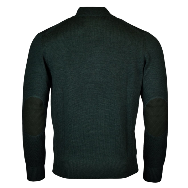 Alan Paine tain button half zip mock knit hunter