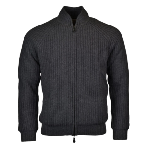 Alan Paine winterton zip front windstopper chunky knit derby 2