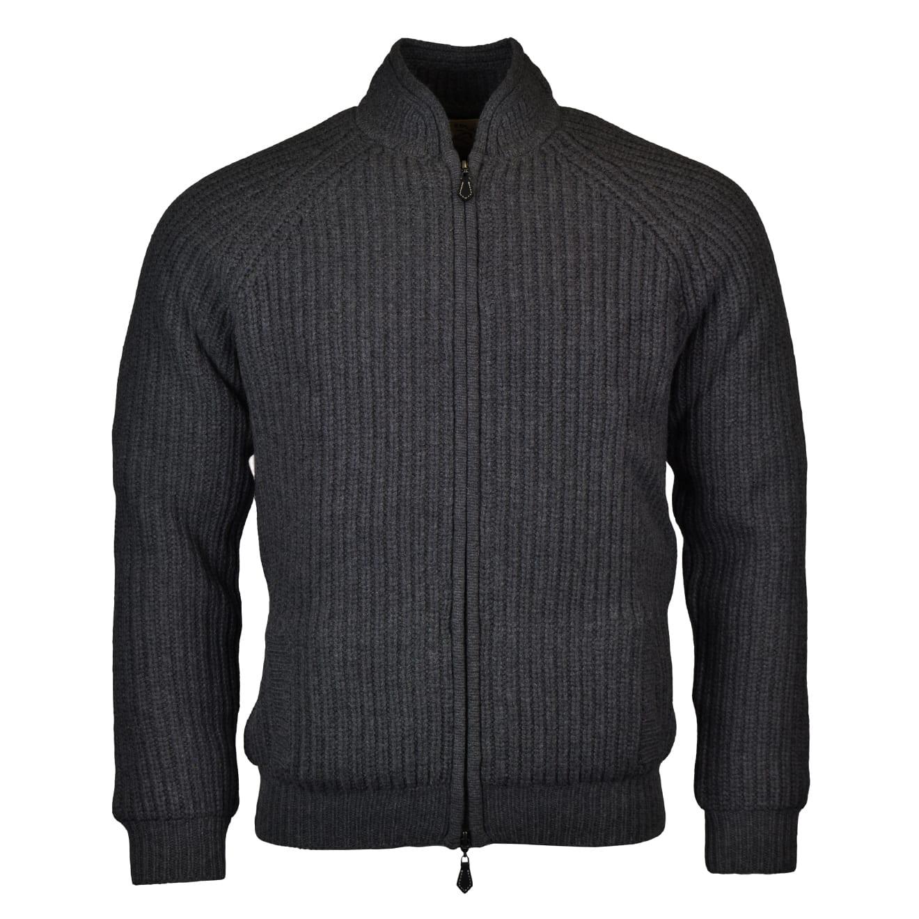 Alan Paine winterton zip front windstopper chunky knit derby 2