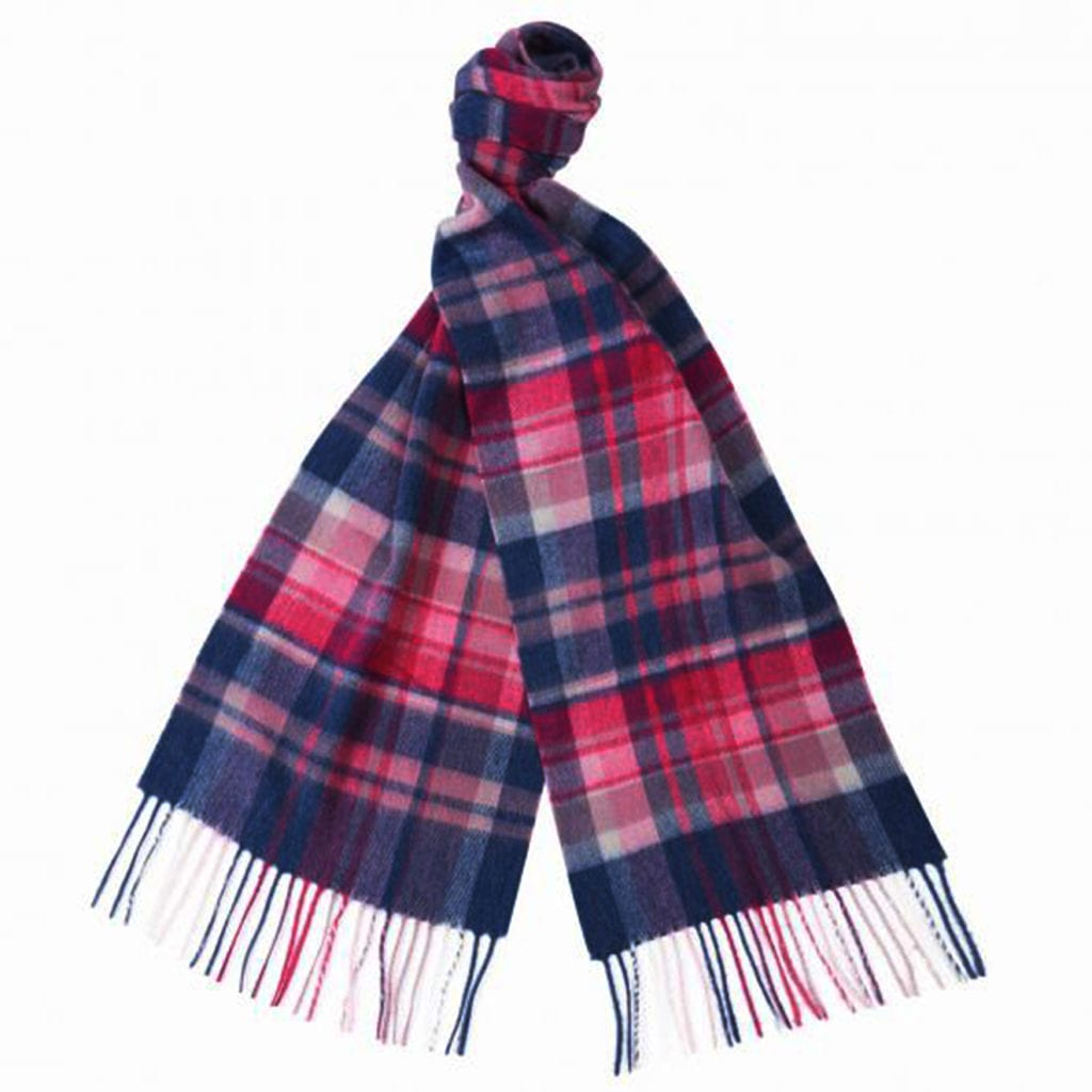 Barbour Vintage Scarf Raspberry