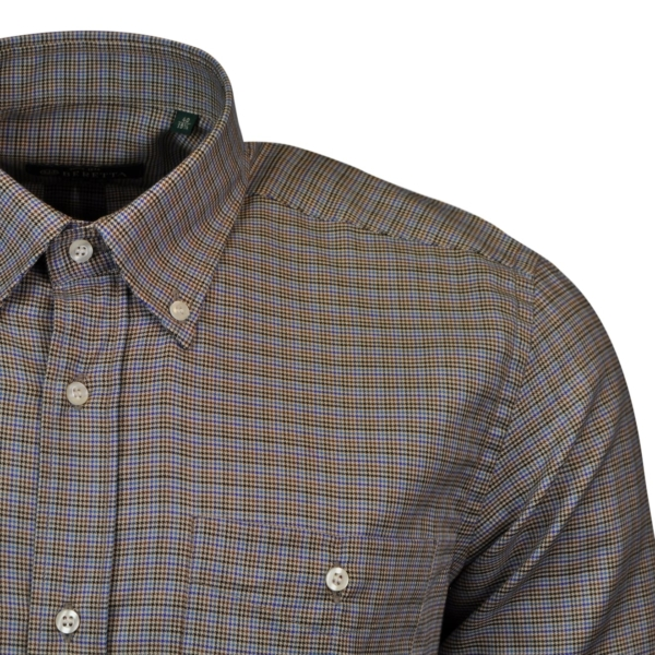 Beretta classic shirt blue stripe brown 2