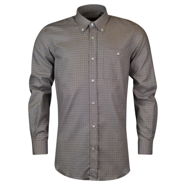 Beretta classic shirt blue stripe brown 4