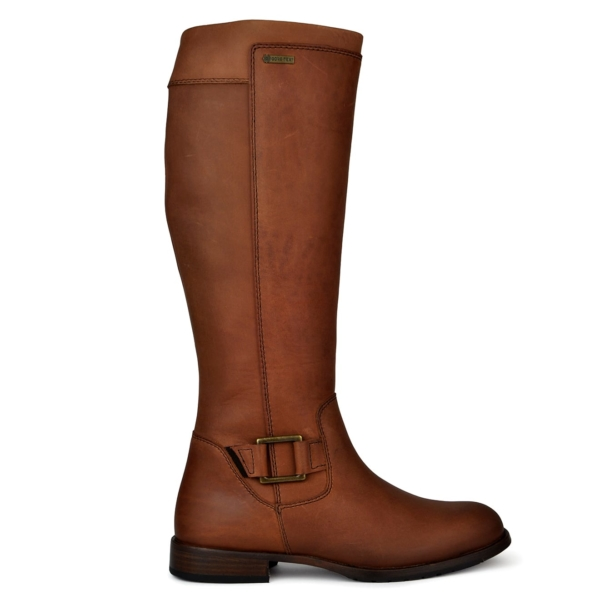 Dubarry womens limerick gortex leather boots chestnut