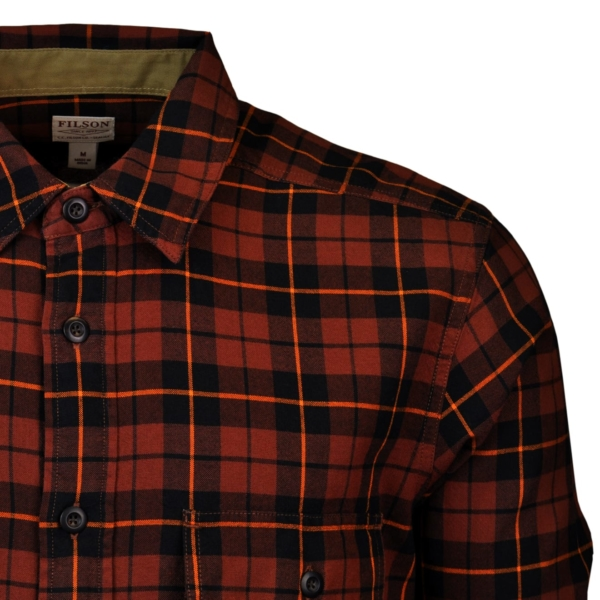 Filson Rustic oxford shirt copper black