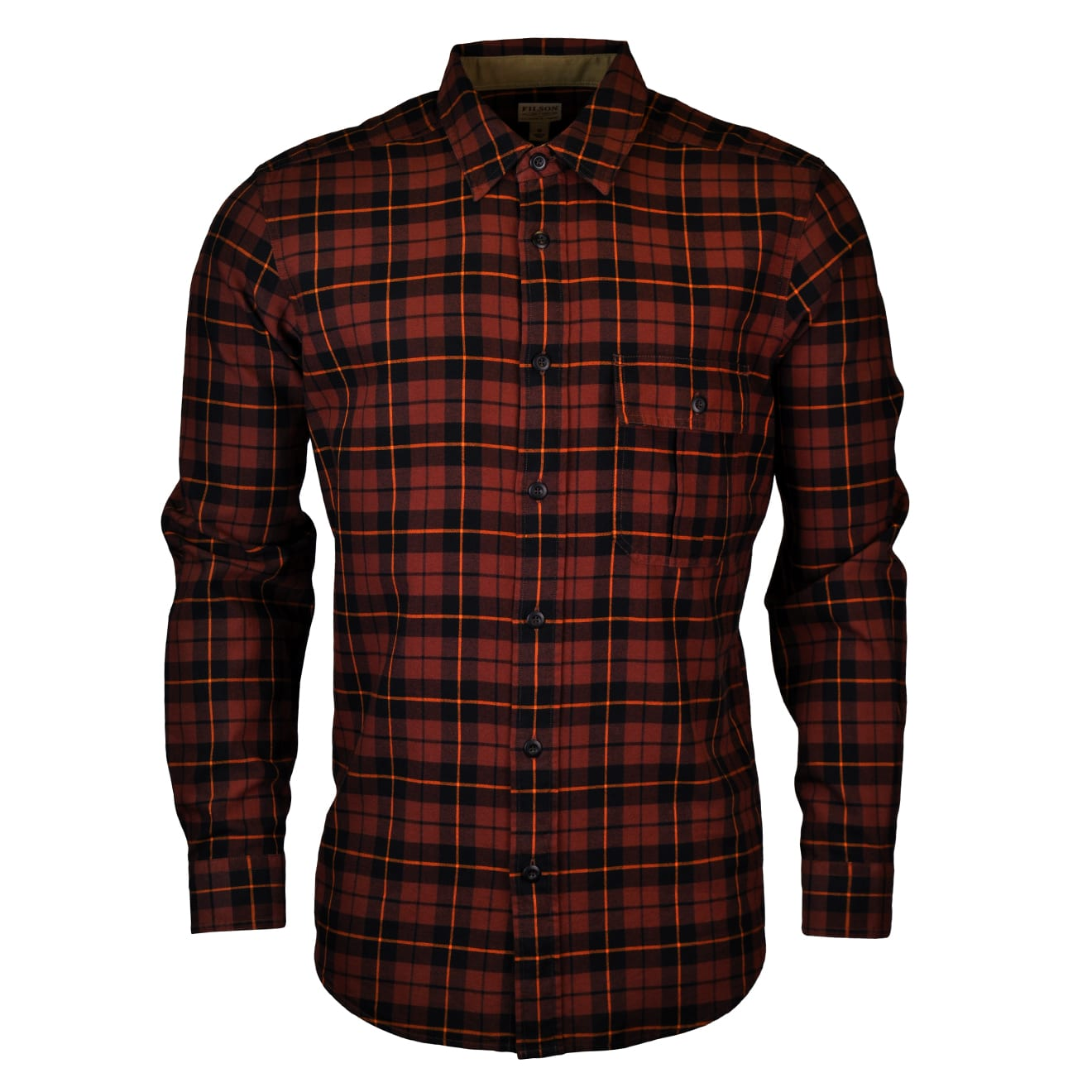 Filson Rustic oxford shirt copper black