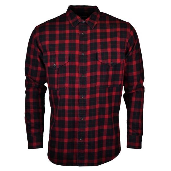 Filson lightweight alaskan guide shirt black red