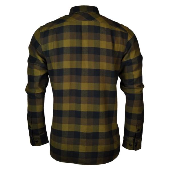 Filson vintage flannel work shirt brown navy
