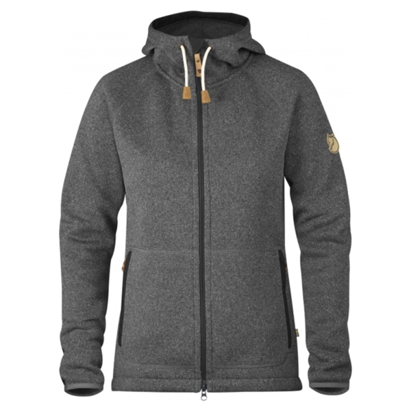 Fjallraven Womens Ovik Fleece Hoodie Dark Grey