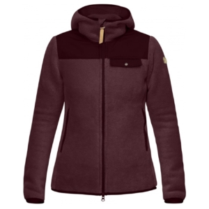 Fjallraven Womens Singi Fleece Hoodie Dark Garnet