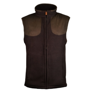 James Purdey fleece shooting gilet peat brown