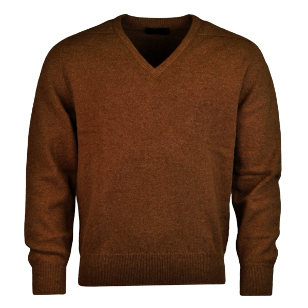 James Purdey lambswool sweater brown