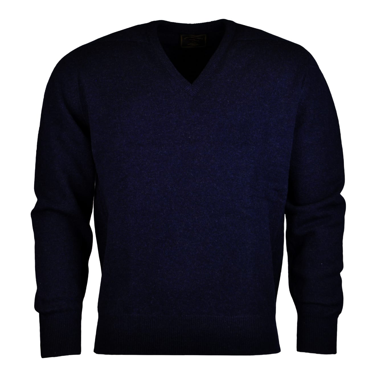 ames Purdey lambswool sweater navy