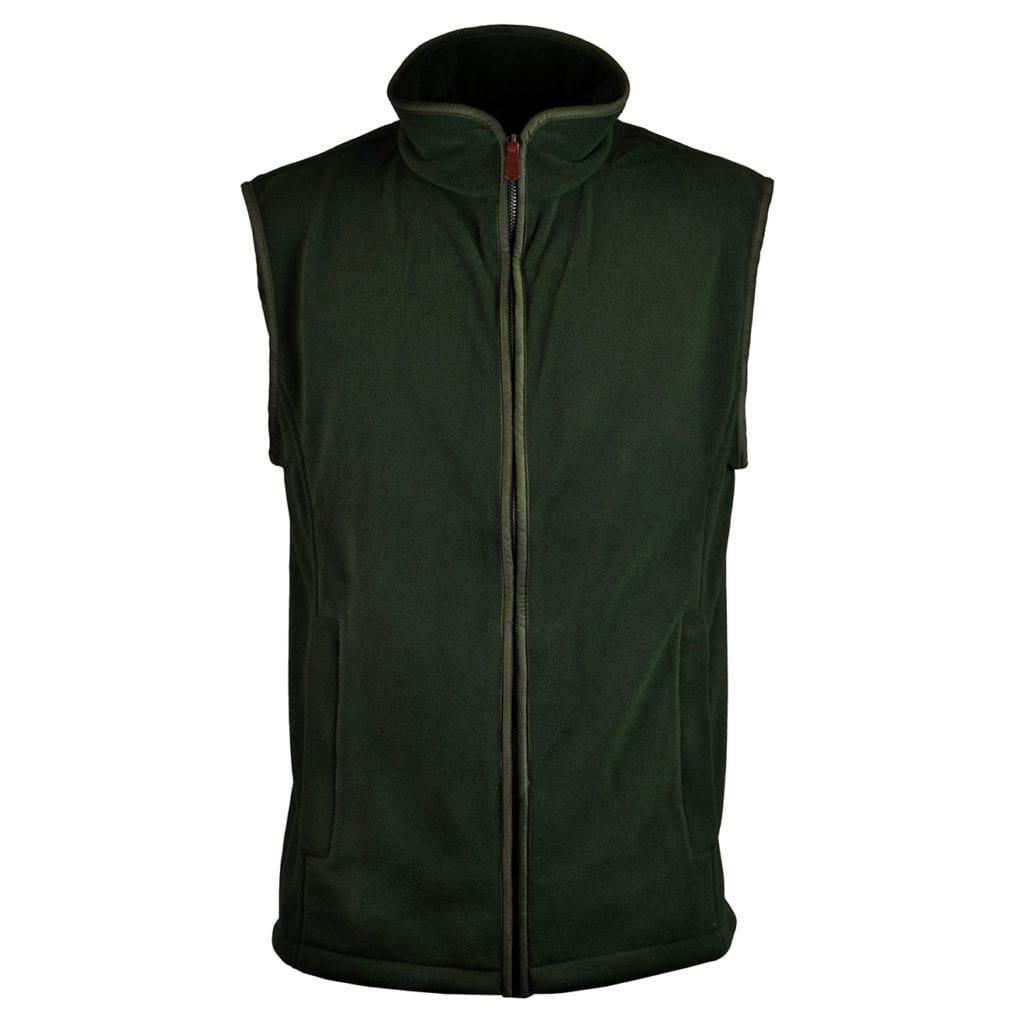 James Purdey lightweight fleece gilet forest green