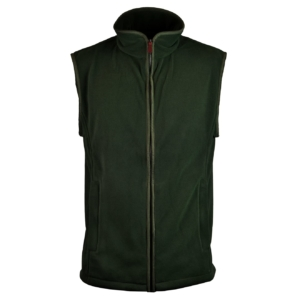James Purdey lightweight fleece gilet forest green