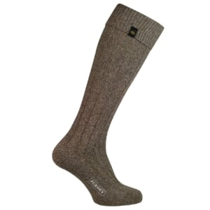 James Purdey long plain colour shooting sock brown