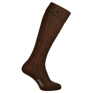 James Purdey long plain colour shooting sock dark brown