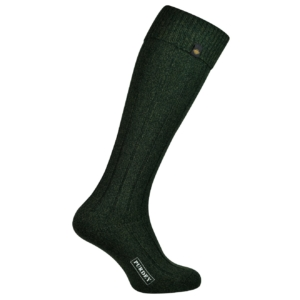 James Purdey long plain colour shooting sock forest