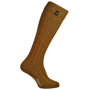 James Purdey long plain colour shooting sock mustard