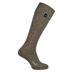 James Purdey womens long plain colour shooting sock brown