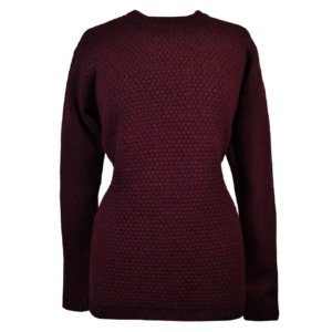 James purdey ladies bramble front sweater wine 2