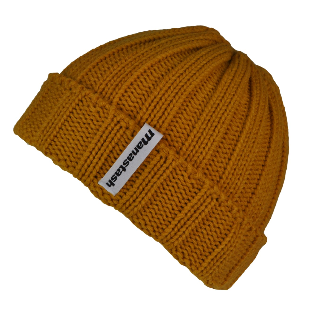 Manastash 90s Logo Beanie Hat Mustard - The Sporting Lodge 0235d513f1b
